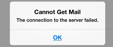 Cannot Get Mail-The Connection to the server failed